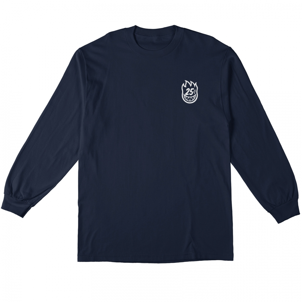 Spitfire x Quartersnacks Quarter Classic Long Sleeve T-Shirt (Navy)