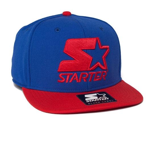 Starter 2 Tone Snapback Cap (Royal/Red)