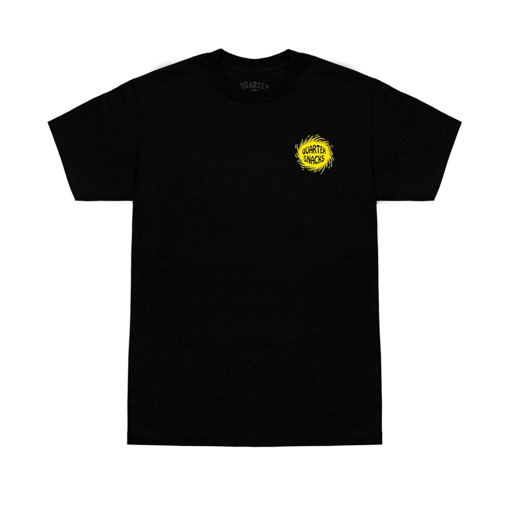 Quartersnacks Surf Shop T-Shirt (Black)