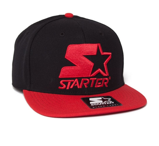 Starter 2 Tone Snapback Cap (Black/Red)
