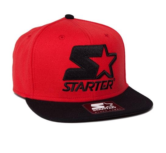 Starter 2 Tone Snapback Cap (Red/Black)