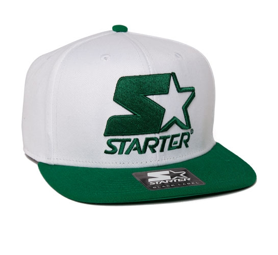 Starter 2 Tone Snapback Cap (White/Green)