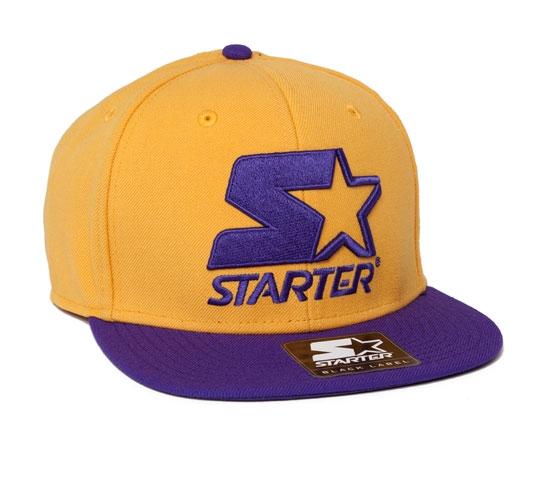 Starter 2 Tone Snapback Cap (Yellow/Purple)
