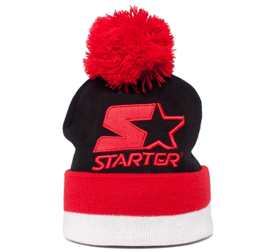 Starter Bobble Beanie (Black/Red/White)