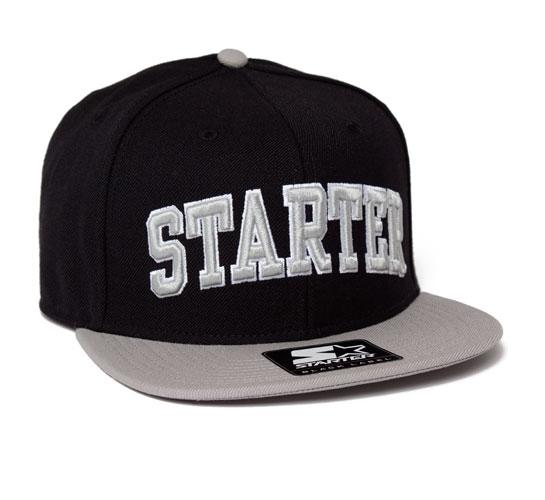 Starter College Arch Snapback Cap (Black/Grey)