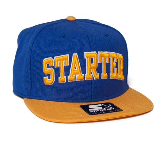 Starter College Arch Snapback Cap (Royal/Yellow)