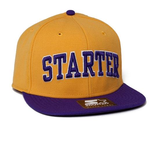 Starter College Arch Snapback Cap (Yellow/Purple)