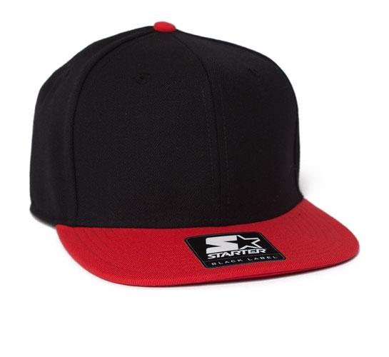 Starter Snapback Cap (Black/Red)