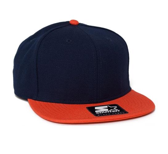 Starter Snapback Cap (Navy/Orange)