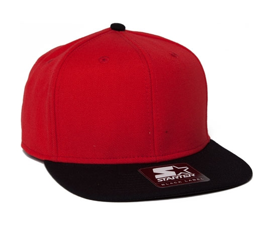 Starter Snapback Cap (Red/Black)