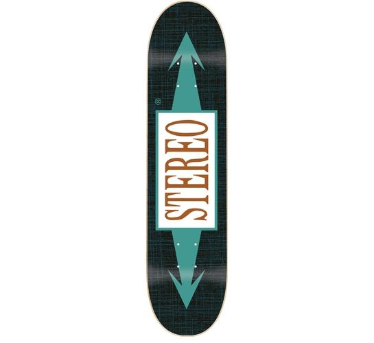 "Stereo Skateboard Deck - 7.75"" Team (Arrows Medium)"