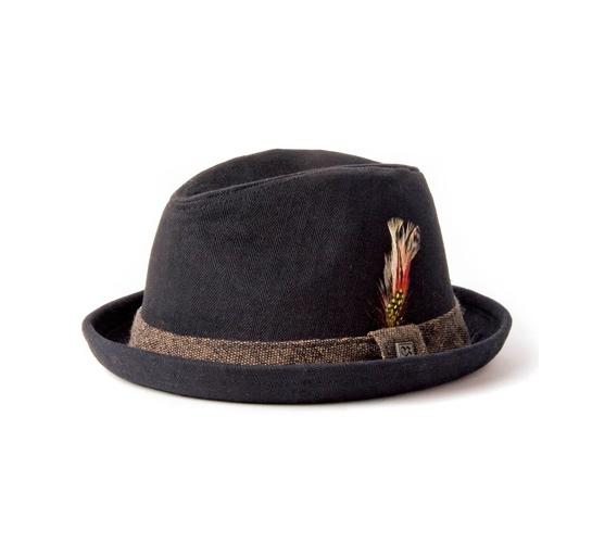 Brixton Hat - Stroll (Black Herringbone Twill)