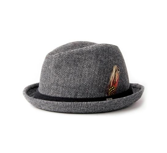 Brixton Hat - Stroll (Grey Herringbone)