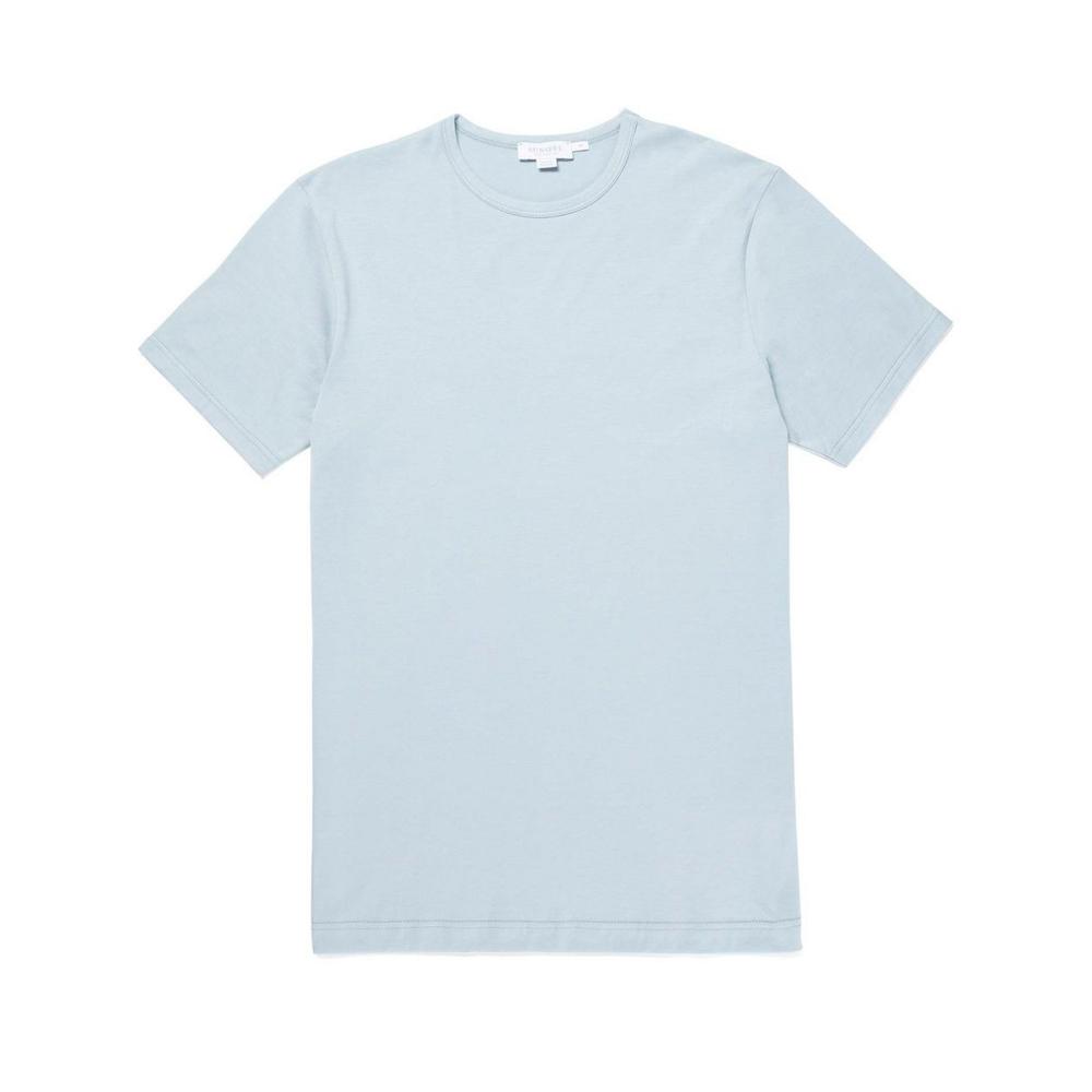 Sunspel Crew Neck Classic T-Shirt (Light Indigo)
