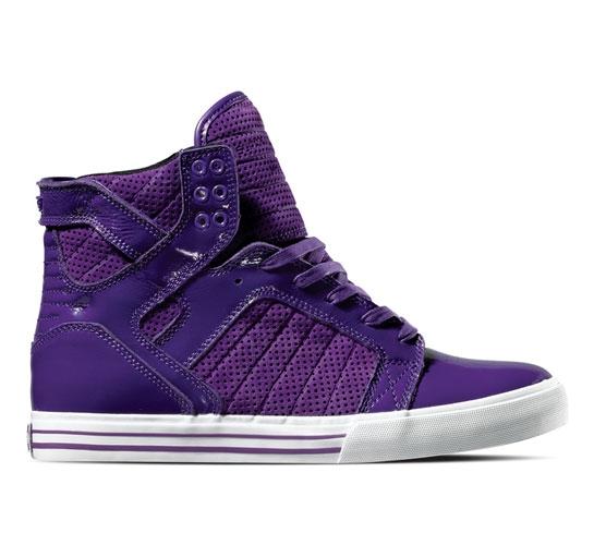 Supra Footwear - Skytop (Purple Suede Patent)