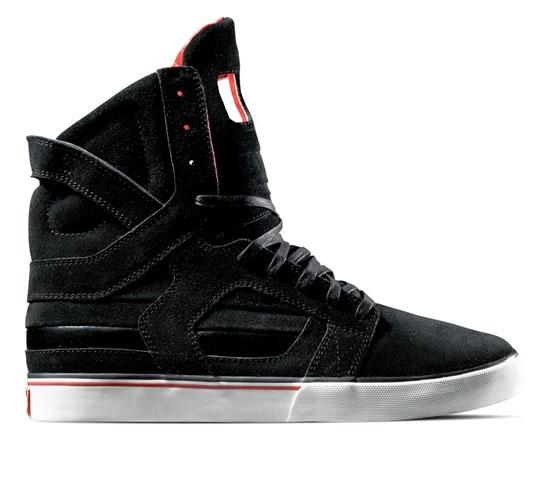Supra Footwear - Skytop II (Black Suede Patent Leather)