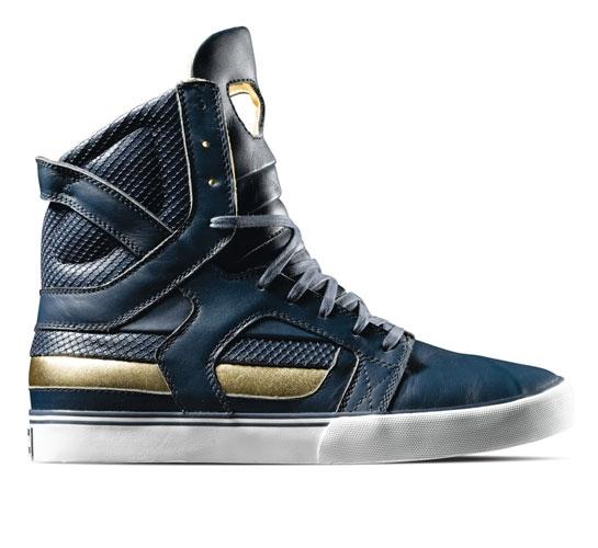 Supra Footwear - Skytop II (Navy/Gold Leather)