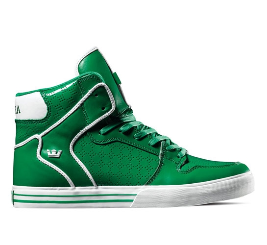 Supra Footwear - Vaider (Green Patent Leather)