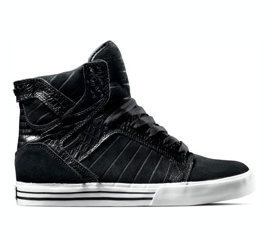 Supra Footwear - Skytop (Black Croc)