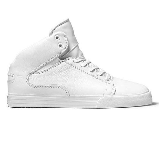 Supra Society Mid (White Full Grain Leather)