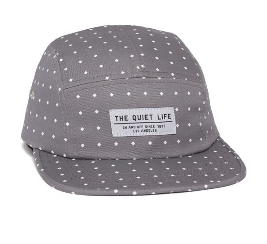 The Quiet Life Diamonds 5 Panel Camper Hat (Thunder Grey)