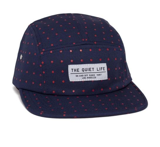 The Quiet Life Diamonds 5 Panel Camper Hat (Navy)