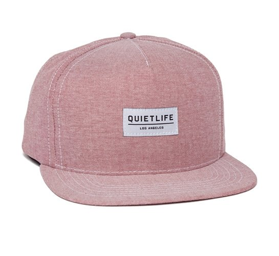 The Quiet Life Oxford Snapback Cap (Red)