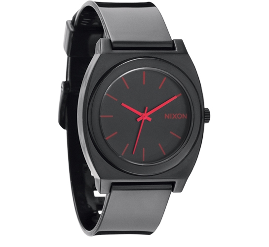 Nixon The Time Teller P Watch (Black/Bright Pink)
