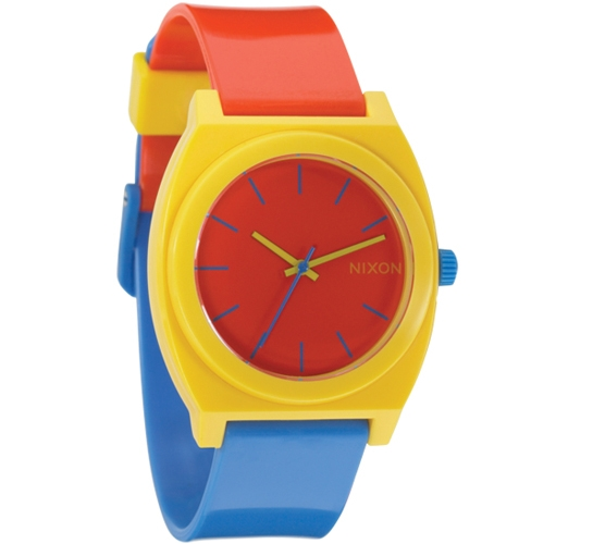 Nixon The Time Teller P Watch (Blue/Yellow/Red)