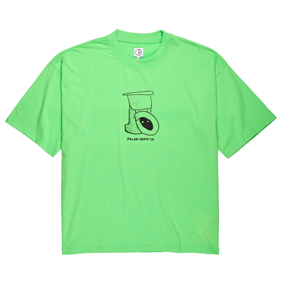 Polar Skate Co. Toilet Surf T-Shirt (Gecko Green)