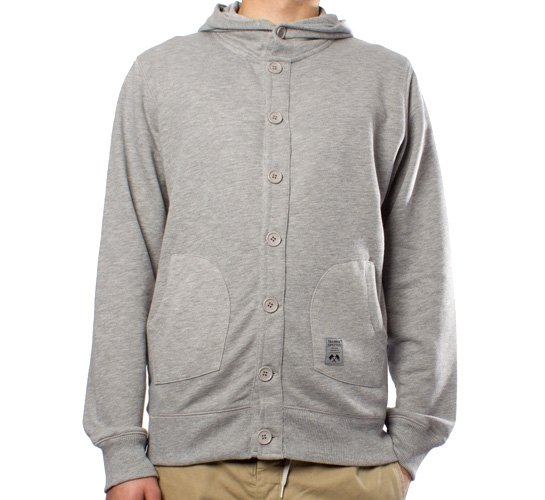 Trainerspotter Button Hood (Grey Marle)