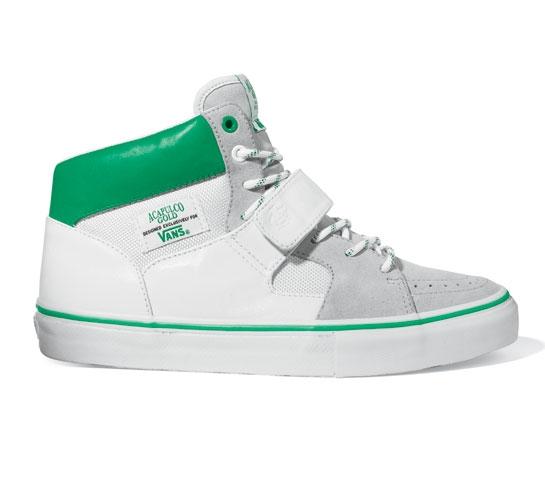Vans Skate Shoes - Moda Hi (Acapulco Gold/White)
