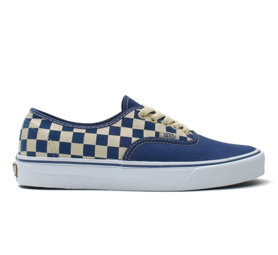 Vans Authentic (Checkerboard Suede-Stv Navy/Coconut Shell)
