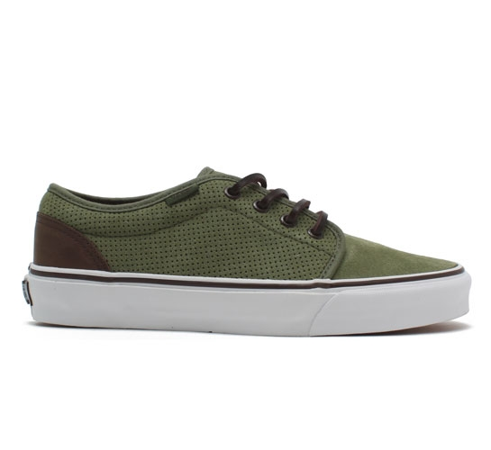 Vans California 106 Vulcanized Shoes (Bronze Green Perf Suede)