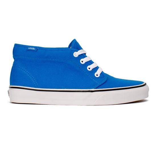Vans Chukka Boot (Brilliant Blue Canvas/True White)