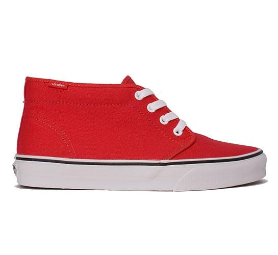 Vans Chukka Boot (Red Canvas/True White)