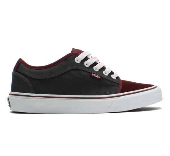 Vans Skate Shoes - Chukka Low (Burgundy/Charcoal)