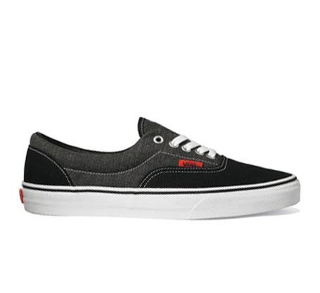 Vans Skate Shoes - Era Chambray (Black/True White)