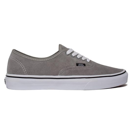 Vans Authentic Suede (Light Grey/True White)