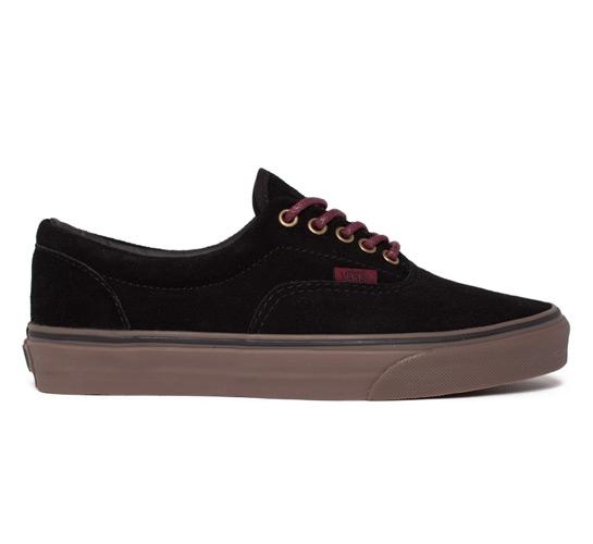 Vans Era Suede (Black/Port/Gum)