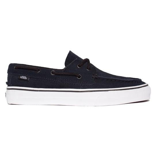 Vans Zapato Del Barco Suede (Blue Graphite/True White)