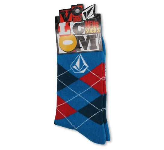 Volcom Men's Socks - Argyle (Blue)