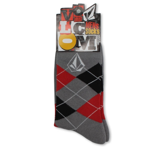 Volcom Men's Socks - Argyle (Grey)