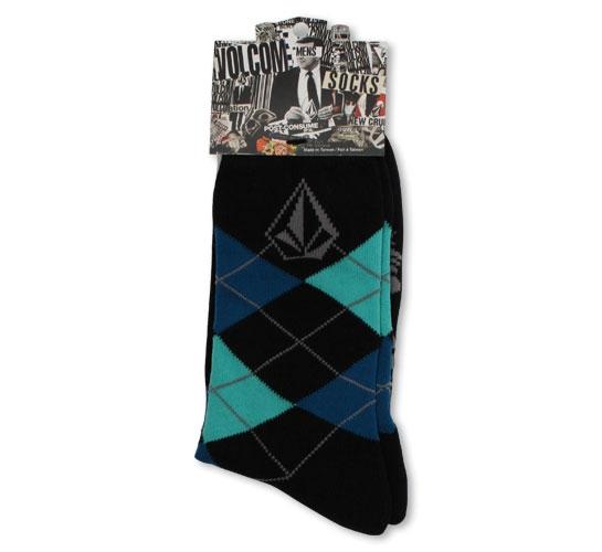 Volcom Men's Socks - Argyle (Navy Blue)
