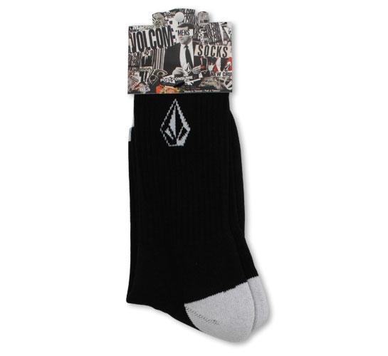 Volcom Men's Socks - Full Stone Socks (Black/White)