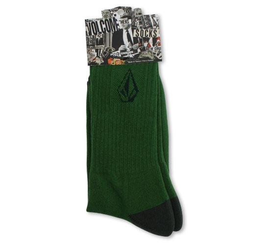 Volcom Men's Socks - Full Stone Socks (Green)