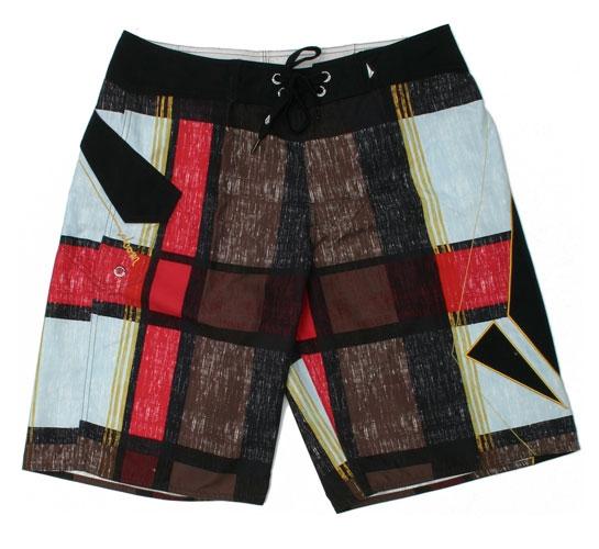 Volcom Men's Shorts - Foster 2 Plaid (Light Blue)