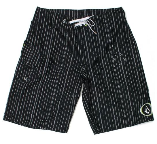 Volcom Men's Shorts - Maguro Stripe Mod (Black)