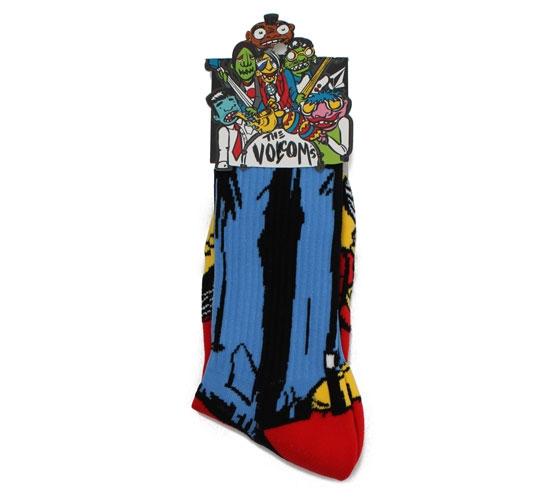 Volcom Men's Socks - The Volcoms Sock Puppets (Brown)