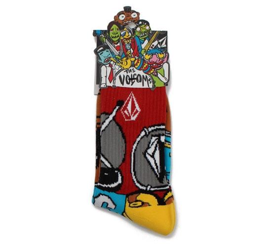 Volcom Men's Socks - The Volcoms Sock Puppets (Red)